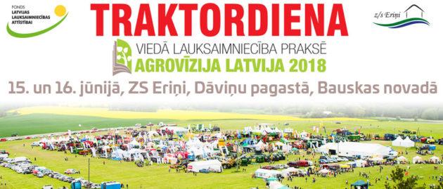Tiekamies Traktordienā 2018, 15.-16.jūnijā, ZS Eriņi!